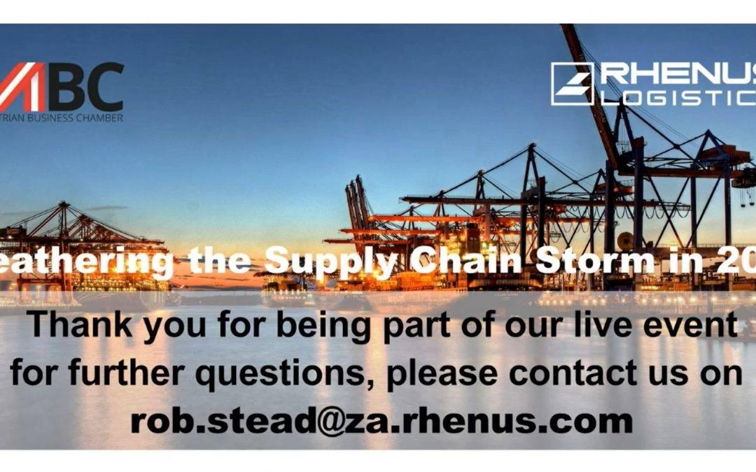 "ABC/Rhenus Webinar Recording ""Weathering the Supply Chain Storm in 2021"""